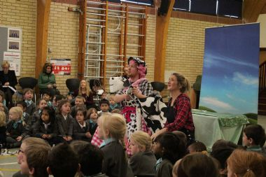 St Cedd's School enjoys 'Jack and the Beanstalk' Pantomime